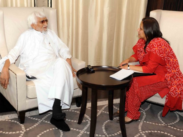Interview with M.F. HUSAIN